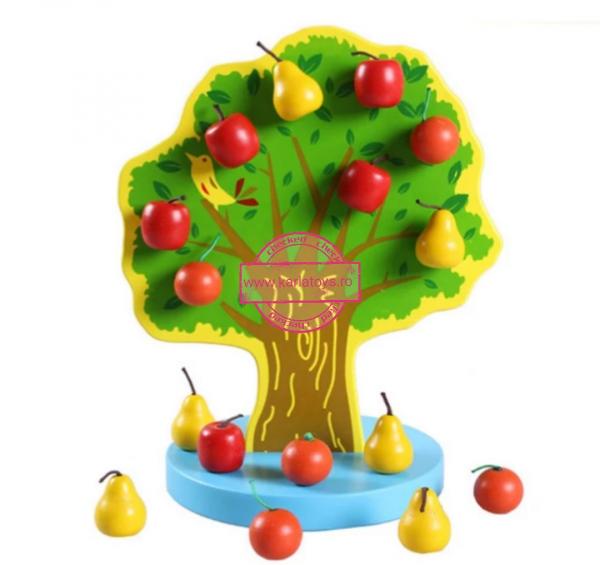 Joc de Lemn Montessori Pomul cu Mere - Apple Tree 1