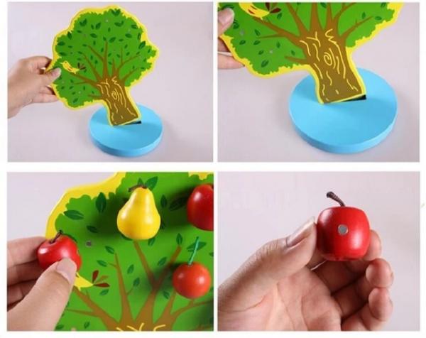 Joc de Lemn Montessori Pomul cu Mere - Apple Tree 3