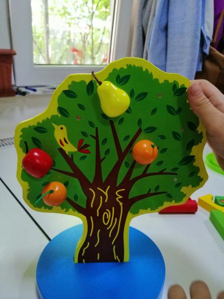 Joc de Lemn Montessori Pomul cu Mere - Apple Tree 6