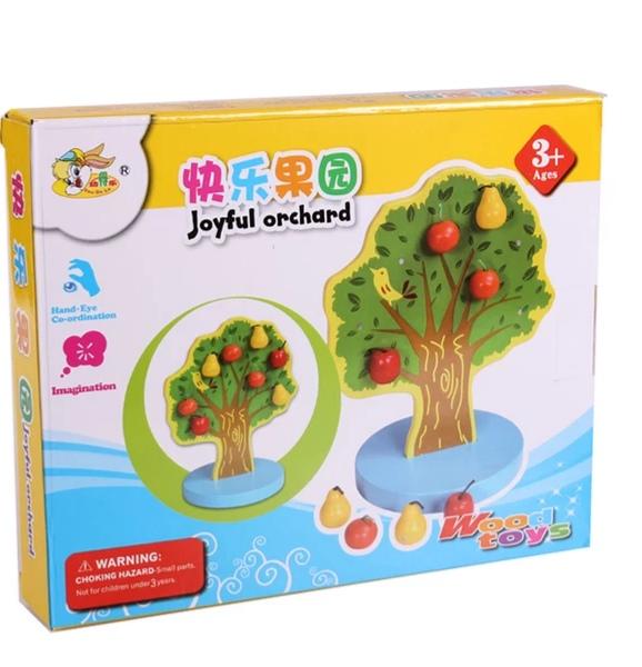 Joc de Lemn Montessori Pomul cu Mere - Apple Tree 4