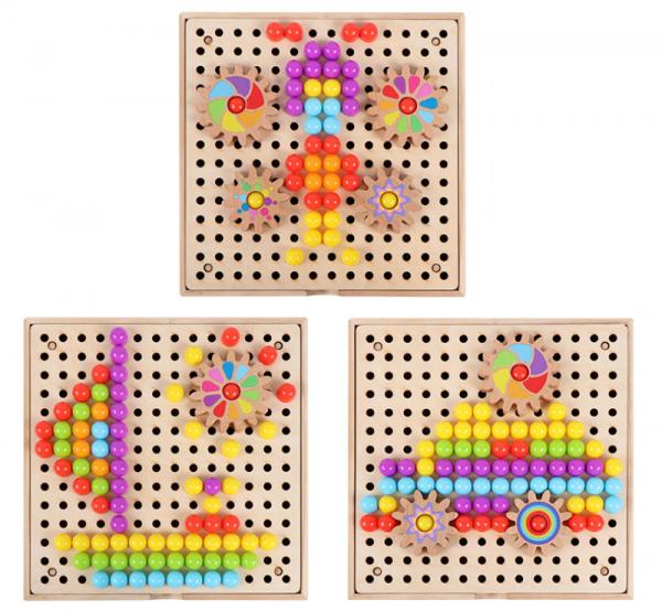 Joc de Lemn Mozaic 2 in 1 cu Planse 3