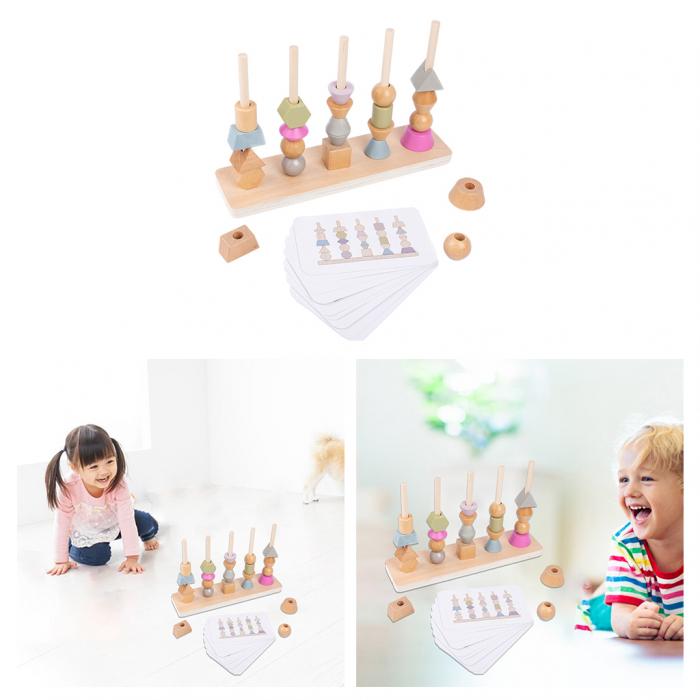 Joc Lemn Montessori Potrivire Forme si culori [0]