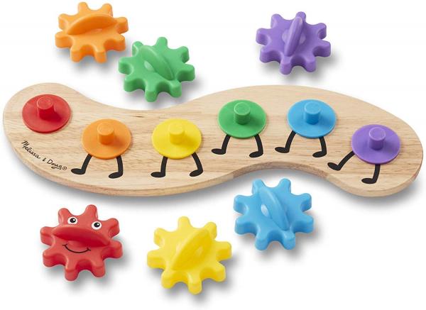 Joc din lemn cu Angrenaje multicolore Melissa and Doug 3