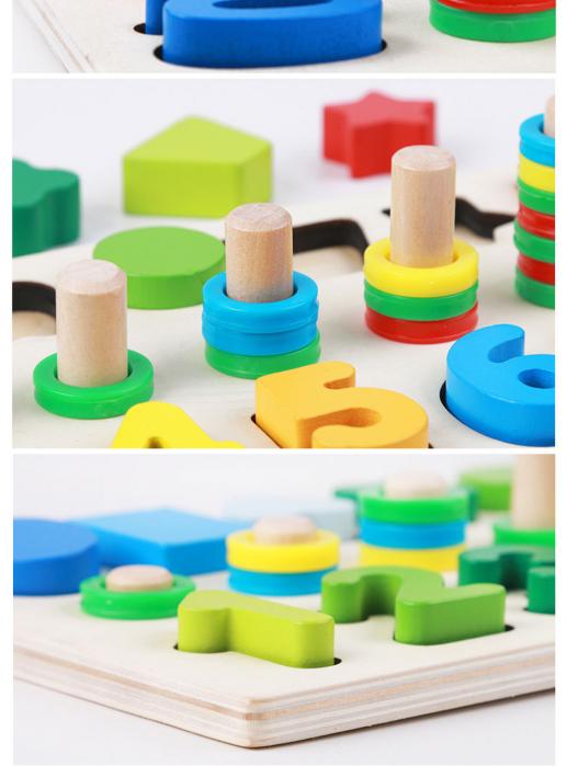 Joc din Lemn cu Cifre Educativ si forme geometrice [4]