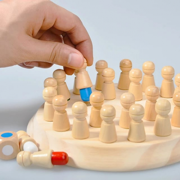 Joc din lemn Memorie CHESS 4