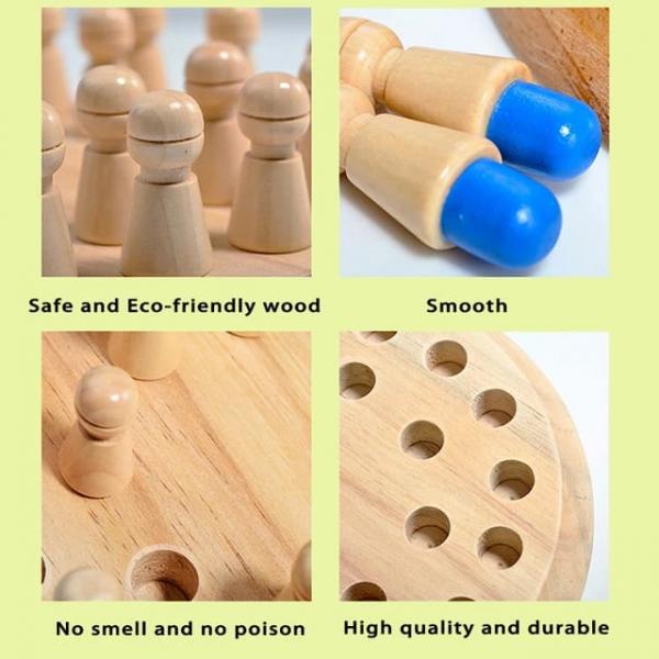 Joc din lemn Memorie CHESS 6