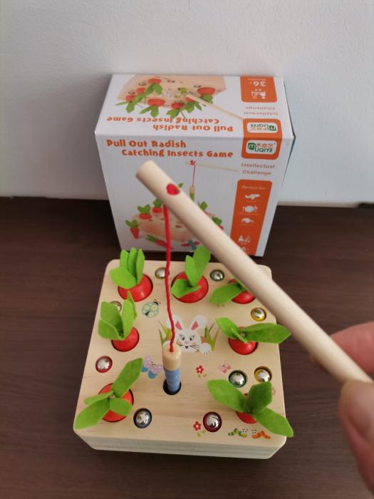 Joc din lemn Metoda Montessori Motricitate Morcovi [7]