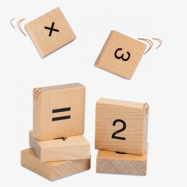 Joc din Lemn Montessori Cifre invatam matematica [2]