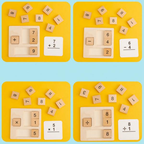 Joc din Lemn Montessori Cifre invatam matematica [3]