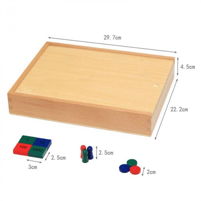Joc din Lemn Montessori educativ numere si operatii matematice [9]