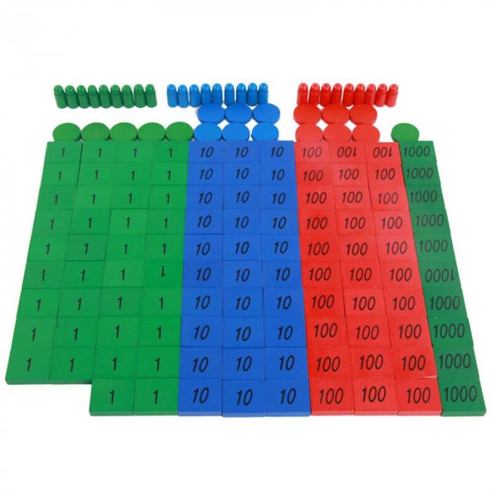Joc din Lemn Montessori educativ numere si operatii matematice [7]