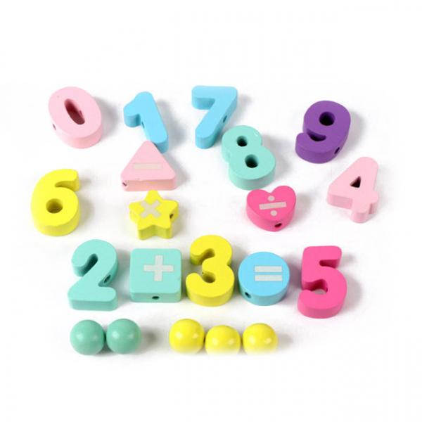 Joc din Lemn Montessori Sortator Culori 4 in 1 - Joc de Pescuit,Cifre, Forme geometrice 9