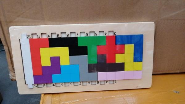 Joc din lemn puzzle Tetris 3D 0