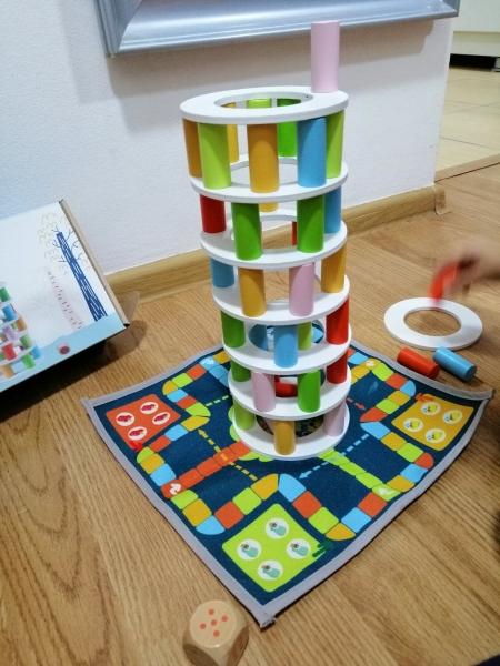 Joc din lemn Stivuire Turnul colorat Pisa Tower [12]