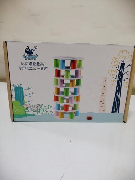 Joc din lemn Stivuire Turnul colorat Pisa Tower [13]