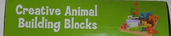 Joc din lemn tetris cu animale 3D 1
