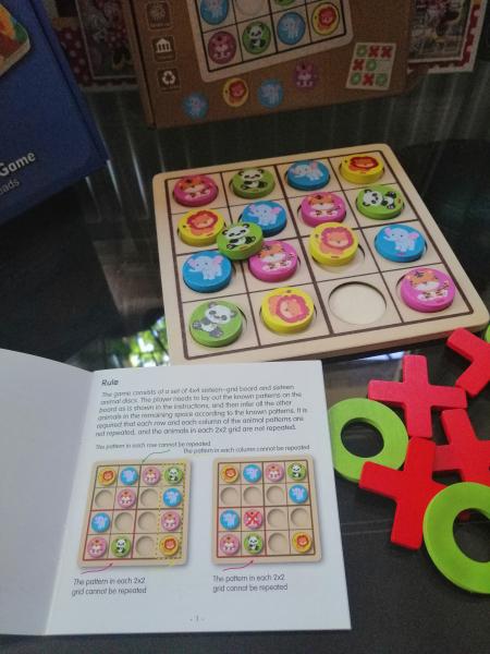 Joc Din Lemn X si 0 si Sudoku - Joc Lemn 2 in 1 x si 0 3