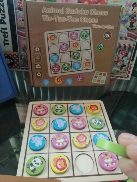 Joc Din Lemn X si 0 si Sudoku - Joc Lemn 2 in 1 x si 0 2