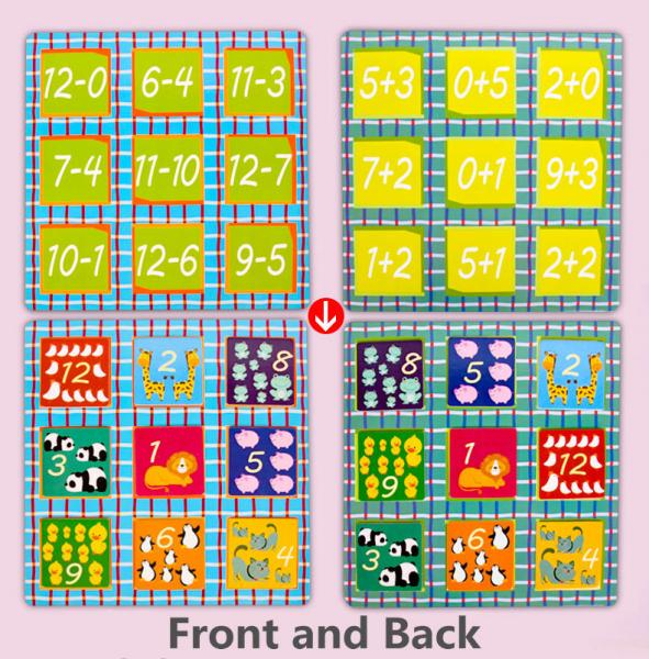 Joc educativ matematica Bingo simplu 3