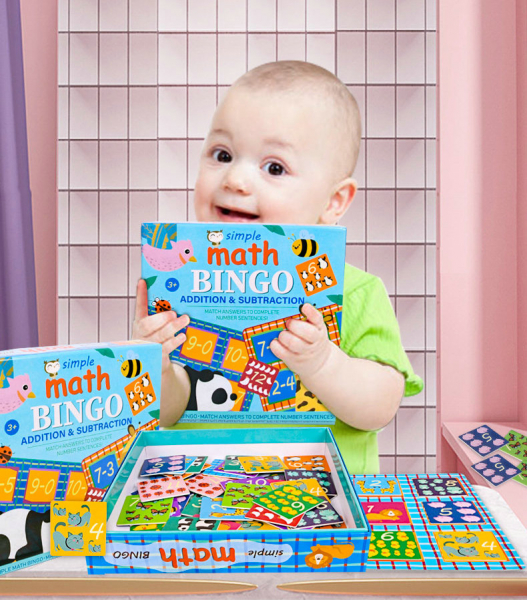 Joc educativ matematica Bingo simplu 2