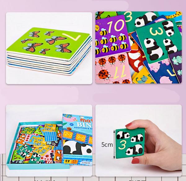 Joc educativ matematica Bingo simplu 6