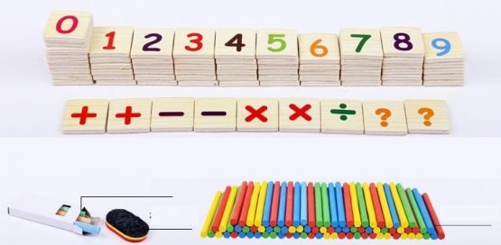 Set educational din lemn matematica 3 in 1 6