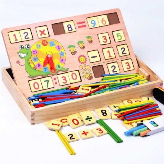 Set educational din lemn matematica 3 in 1 1