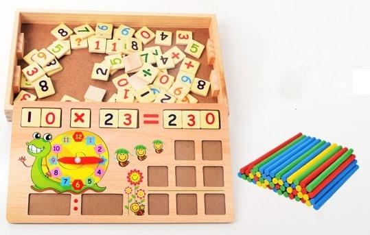 Set educational din lemn matematica 3 in 1 4