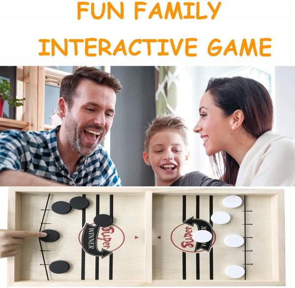 Joc interactiv din lemn Hochei - Joc de masa Slingpuck 5
