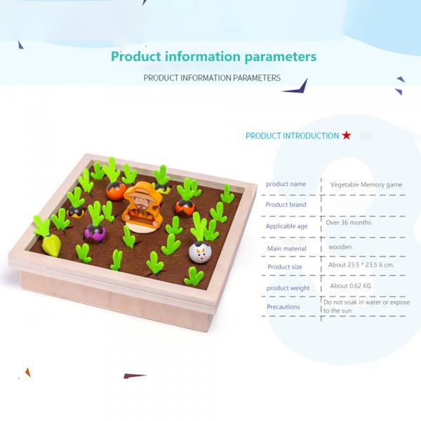 Joc lemn Memorie Gradina cu Legume - Joc Montessori din Lemn Gradina cu Legume 8