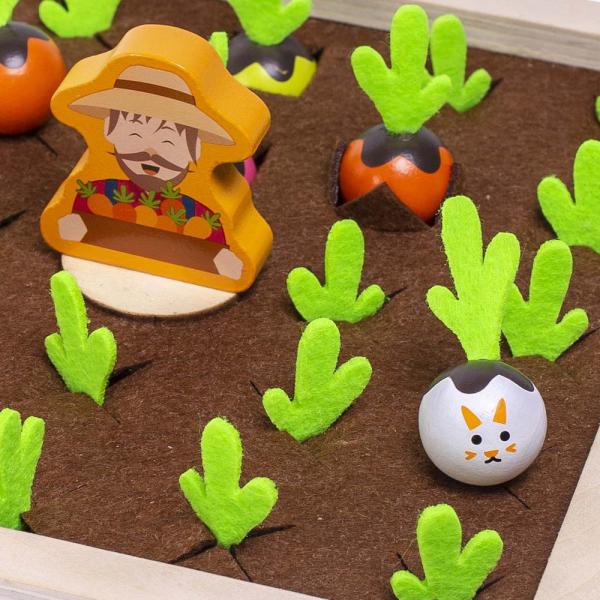 Joc lemn Memorie Gradina cu Legume - Joc Montessori din Lemn Gradina cu Legume 6