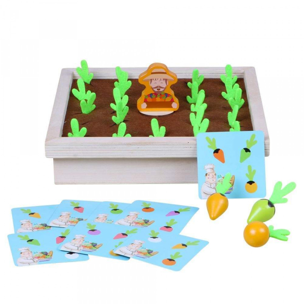 Joc lemn Memorie Gradina cu Legume - Joc Montessori din Lemn Gradina cu Legume 5