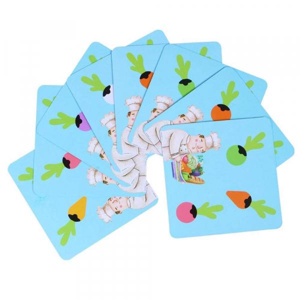 Joc lemn Memorie Gradina cu Legume - Joc Montessori din Lemn Gradina cu Legume 4
