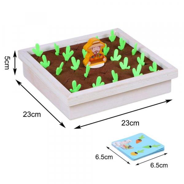 Joc lemn Memorie Gradina cu Legume - Joc Montessori din Lemn Gradina cu Legume 3