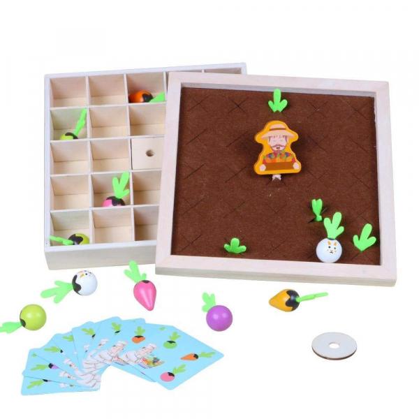 Joc lemn Memorie Gradina cu Legume - Joc Montessori din Lemn Gradina cu Legume 2