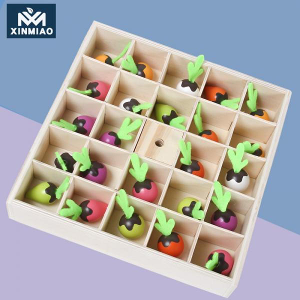 Joc lemn Memorie Gradina cu Legume - Joc Montessori din Lemn Gradina cu Legume 12