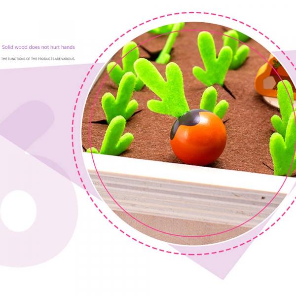 Joc lemn Memorie Gradina cu Legume - Joc Montessori din Lemn Gradina cu Legume 10
