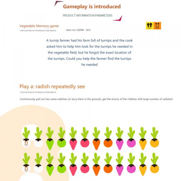 Joc lemn Memorie Gradina cu Legume - Joc Montessori din Lemn Gradina cu Legume 9