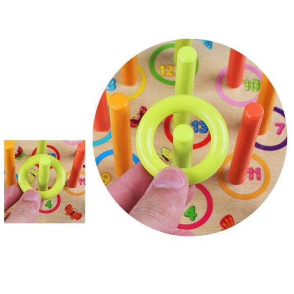 Joc din lemn interactiv de aruncat la tinta Aruncarea inelului 6