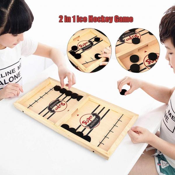 Joc interactiv din lemn Hochei - Joc de masa Slingpuck 3
