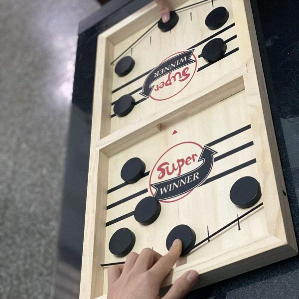 Joc interactiv din lemn Hochei - Joc de masa Slingpuck 2