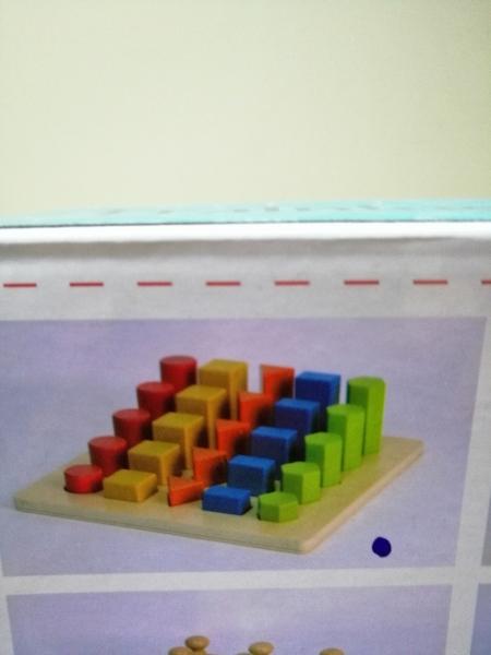 Joc lemn montessori forme geometrice - Joc Montessori Scara din lemn învățare lungime formă geometrică [6]