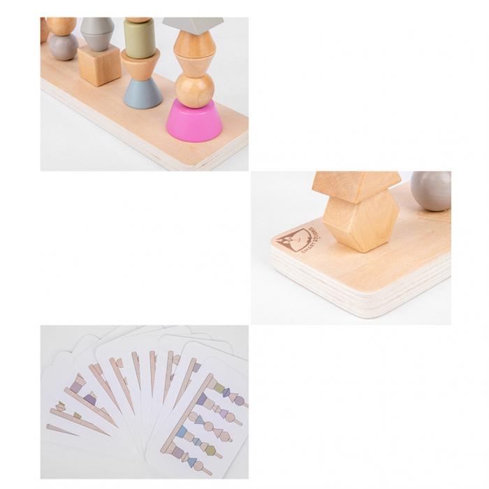 Joc Lemn Montessori Potrivire Forme si culori [4]