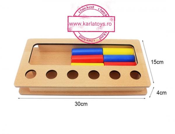 Joc Lemn Montessorii Sortator Peg Box - Joc Lemn Sortator Pioni 5