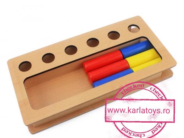 Joc Lemn Montessorii Sortator Peg Box - Joc Lemn Sortator Pioni 3