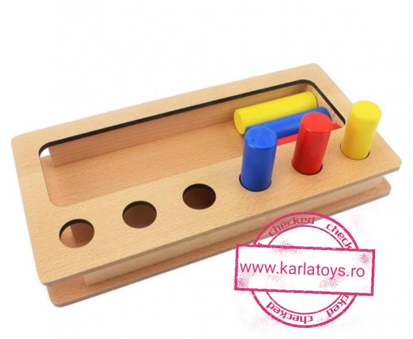 Joc Lemn Montessorii Sortator Peg Box - Joc Lemn Sortator Pioni 4