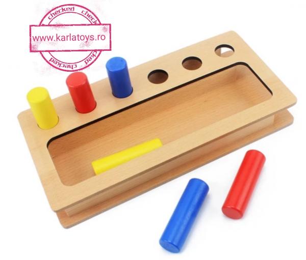 Joc Lemn Montessorii Sortator Peg Box - Joc Lemn Sortator Pioni 1