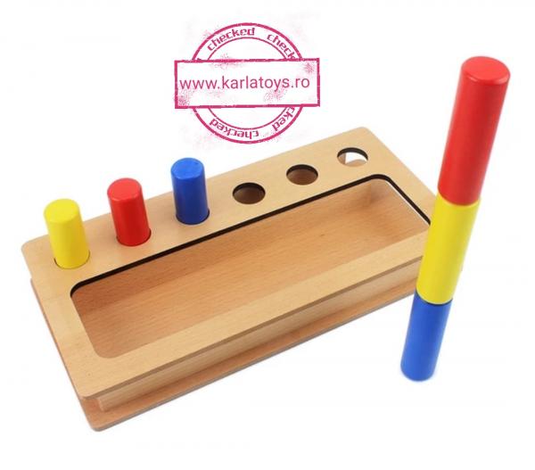 Joc Lemn Montessorii Sortator Peg Box - Joc Lemn Sortator Pioni 2