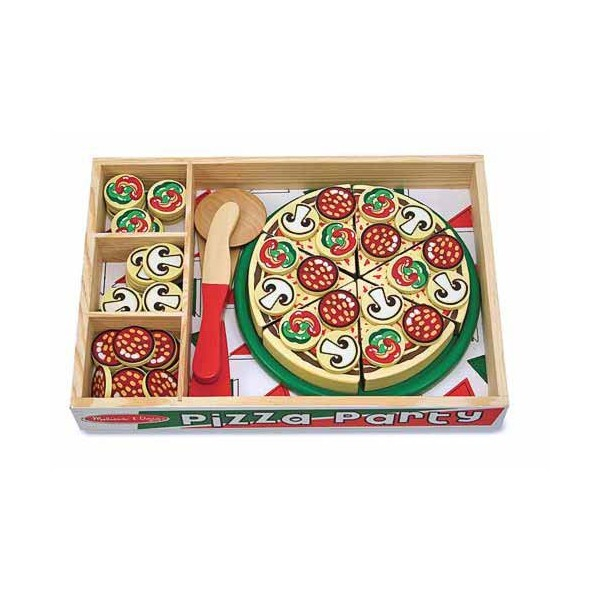 Joc lemn Pizza Party  54 de piese Melissa and Doug 2