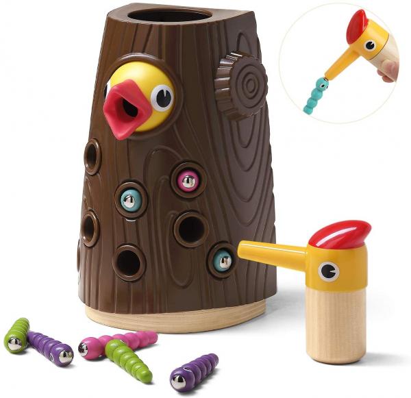 Joc Magnetic Hranirea Pasarilor - Joc Copacul cu Viermisori 6